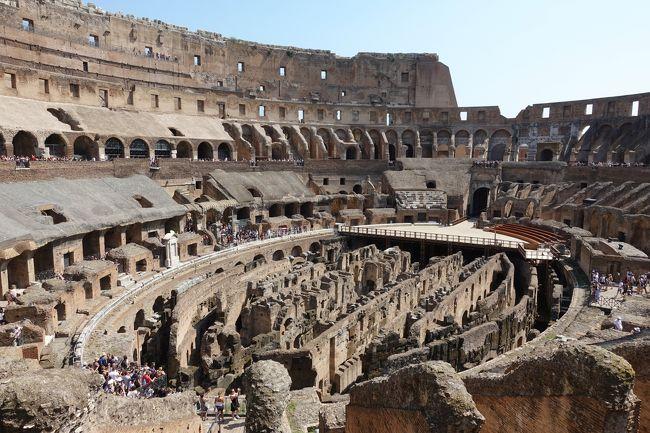 四日目。ローマ観光開始します。<br />ローマパスを使いまくりたいところでしたが、<br />コロッセオでだいぶ時間を取られてしまいました。選択肢が多くてグルメ選びも一苦労。<br />ドブロブニクではクロアチア語は結局覚えられず、求められもしませんでした。<br />しかしイタリアは違う。よろしければ以下をご参照ください。<br /><br />★観光客に最低限求められる(と思われる)イタリア語★<br />Buongiorno(ボンジョルノ) こんにちは<br />Buonasera(ボナセーラ) こんばんわ<br />Grazie(グラッツェ) ありがとう<br />Prego(プレゴ) どうぞ<br />Scusi (スクーズィ) すみません(謝罪じゃなくて、ちょっとすみませんという意味だと思われます。)<br /><br />イマイチ要領がわからないので、とりあえずボンジョルノ、グラッツェを繰り返す日々でした^^;<br /><br /><br />ーーーーー<br /> 旅程<br />ーーーーー<br />2018<br />□8.26 福岡空港→ヘルシンキ空港→ドブロブニク旧市街<br />□8.27ドブロブニク観光 <br />□8.28ドブロブニク観光→ローマへ<br />   17:00発 ドブロブニク空港<br />   18:15着フィウミチーノ空港<br />■8.29ローマ観光(コロッセオメイン)<br />□8.30ローマ観光(バチカン美術館メイン)<br />□9.1 フィレンツェ観光<br />□9.2 ローマ→ヘルシンキ空港→福岡空港の予定でしたが・・・