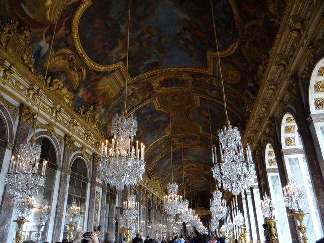 4泊6日の夫婦で行くフランス旅行だ。今回は4日目モンサンミッシェルの続きで、5日目。午前中はヴェルサイユ宮殿に行き、午後はオペラ座に行く。<br />