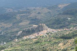 美しき南イタリア旅行♪ Vol.210(第7日)☆Oriolo→Rocca Imperiale:美しき村「オリオーロ城」素晴らしい遠景♪