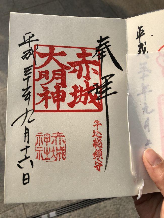 休日に神楽坂へ行ったら、ナント御神輿わっしょいのお祭りの真っ只中だった!<br /><br />思わぬ混雑に戸惑いましたが、お江戸ならではのお祭りの雰囲気を楽しめたので、これはこれでよかったです。<br />当初の目的である【御朱印集め】も達成し、念願の赤城神社と東京大神宮へ参拝することができました。