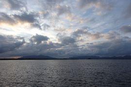 2018.09 山陰めぐりパス(4)湖畔で宍道湖をぼんやりと眺めて、米子へ。