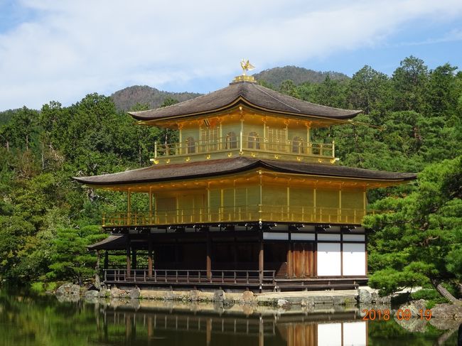 夏の終わりにドライブがてらに京都に観光に出かけてきました。概ねの宿泊場所は京都駅周辺及び四条界隈ですので、今回は交通の便の良いモントレ京都に予約をして出かけました。ホテルは四条烏丸を北へ100メートル程上がった場所にあり都合の良い、場所に有りました。今回は珍しく観光をしてみようと思い過去には何度か行っていますが、最近訪れていない有名な金閣寺・竜安寺・銀閣寺・哲学の道を観光し散策してきました。久しぶりに楽しい思い出の旅となりました。