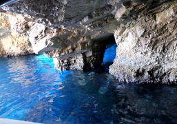 2018.8ギリシアザキントス島,ペロポネソス半島ドライブ旅行10-スキナリ岬,ザキントス島の青の洞窟