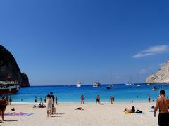 2018.8ギリシアザキントス島,ペロポネソス半島ドライブ旅行11-シップレック・ビーチ(Navagio Beach)