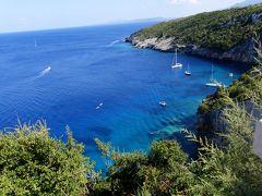 2018.8ギリシアザキントス島,ペロポネソス半島ドライブ旅行12-Skinari岬から,Villaに帰る My Marketで買い物
