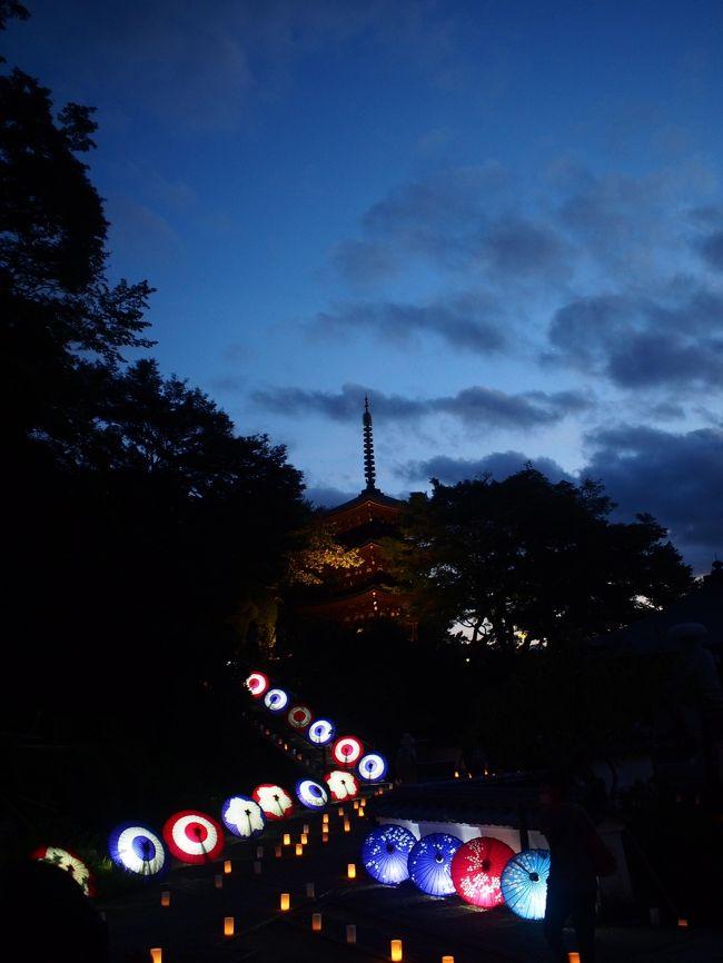 奈良12ヵ月完全制覇の旅、今回は9月です。<br /><br />9月って何かイベントあるのかしらと調べたら、結構色々な場所でライトアップイベントが開催されているんですね。<br />その中で行ってみたいと思ったのが、明日香村で開催される『飛鳥 光の回廊』。<br /><br />滞在したのはたった3時間でしたが、夢見心地で歩き回った素晴らしいイベントでした。<br /><br />本編は後編、飛鳥 光の回廊2018の旅行記です!<br /><br /><br />≪行程≫<br />橿原神宮前駅スタート<br /> ↓<br />万葉文化館<br /> ↓<br /> 岡寺<br /> ↓<br /> 橘寺<br /> ↓<br />川原寺<br /> ↓<br />石舞台<br /> ↓<br />飛鳥駅ゴール<br /><br /><br />≪往路≫ <br />9/21(金)22:10 東京鍜治橋駐車場 → 6:30大阪梅田プラザモータープール <深夜バス ナイトライナー・4列シート>(7000円)<br /><br />≪復路≫ <br />9/22(土)23:00 天理駅 → 6:10バスタ新宿 <新宿-奈良・五條線 やまと号・3列シート>(9000円)<br />