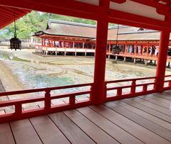 広島ぶらり一人旅*高速船で行く宮島、 公認ガイドさんと歩く厳島神社*