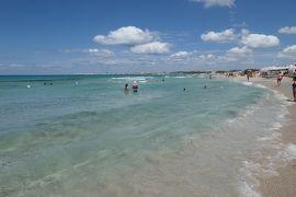 美しき南イタリア旅行♪ Vol.327(第11日)☆ガッリーポリ:ビーチ高級リド「サムザーラ」波に任せて♪