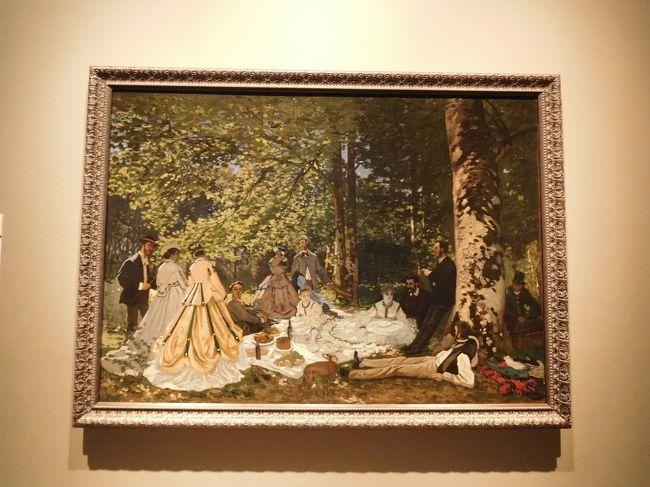 大阪・肥後橋にある国立国際美術館に『プーシキン美術館展ー旅するフランス風景画』を観に行ってきました。<br /><br />金曜・土曜に開催されている夜間開館時は、なんとほとんどの絵画の撮影が可能とのこと!(一部著作権の関係で不可のものもありました)<br /><br />だったらその時に行きたいよね♪と金曜の夜に出かけてきました。<br /><br />絵画は詳しくないので出来るだけたくさんの絵を見て、色んなことを知りたい今日この頃・・・<br /><br />ただ、備忘録程度の旅行記なのであまり内容は濃くありませんww<br /><br />芸術の秋、興味深い展覧会が多いので大忙しですっ(≧∇≦)