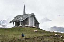 花とスイス(6)ツェルマット周辺 <曇り一時雨> グレッシャ-パラダイス3883m・トロッケナ-・シュテック・リッフェルベルク~リッフェルアルプ ハイキング・タ-コイズ ブル-の地底湖
