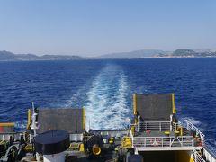2018.8ギリシアザキントス島,ペロポネソス半島ドライブ旅行17-フェリーでKilliniにかえる.オリンピアに向かう