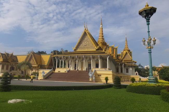阪急交通社のツアーで、カンボジアのプノンペンに出かけてきました。<br />『ANA往復直行便利用!東洋のパリ!プノンペン4日間』39,800円というツアーでしたが、実際には、燃油サーチャージや一人部屋追加代金、ビザ取得経費、空港使用料、保険料などを含め85,000円ほどとなってしましました。<br />また、実際の日程としては、カンボジア滞在まる2日の日程です。<br />しかしながら、10万円以内でカンボジアまで行けたので、お得なツアーだったと思います。<br />