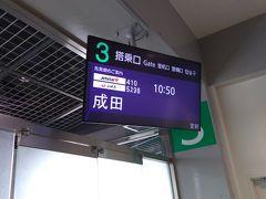 嫁の見送りで成田空港まで日帰り
