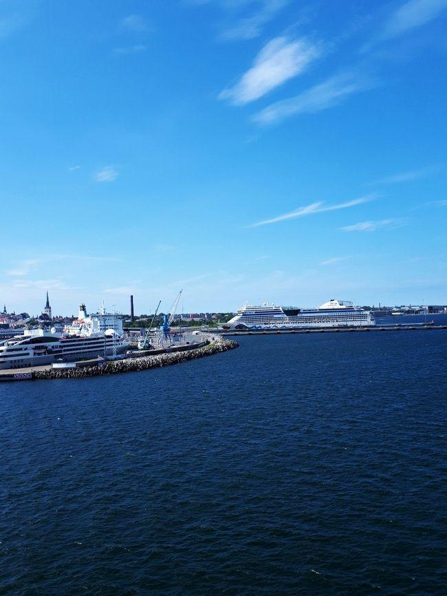 エントランスに座り込み、乗船まで走って上がってしまった息を整えて、早速、甲板に。<br /><br />丁度、ヘルシンキ港を出たところ。<br /><br />右にも、左にも小さな島が、次から次へと。甲板を右に行ったり」、左に行ったり、子供のように動き回って、楽しい時間でした。<br /><br /> タリン上陸後、最初に目指したのは、トームペア城。周辺の展望台巡りのあと、 アレクサンドル・ネフスキー聖堂。<br /><br /> <br /> 6月17日  成田~ヘルシンキ<br /> 6月18日  エストニア・タリン日帰り観光<br /> 6月19日  ヘルシンキ市内観光、夜行寝台列車でロバニエミに出発<br /> 6月20日  早朝ロバニエミ到着。サンタクロース村へ。<br /> 6月21日  バスで、サーリセルカへ移動<br /> 6月22日  サーリセルカで、ミニハイキング<br /> 6月23日  サーリセルカ~イヴァロ~ヘルシンキ<br /> 6月24日  成田到着<br />