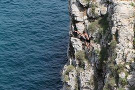 美しき南イタリア旅行♪ Vol.373(第13日)☆Gagliano:美しい湾「Ciolo」飛び込む若者たち♪