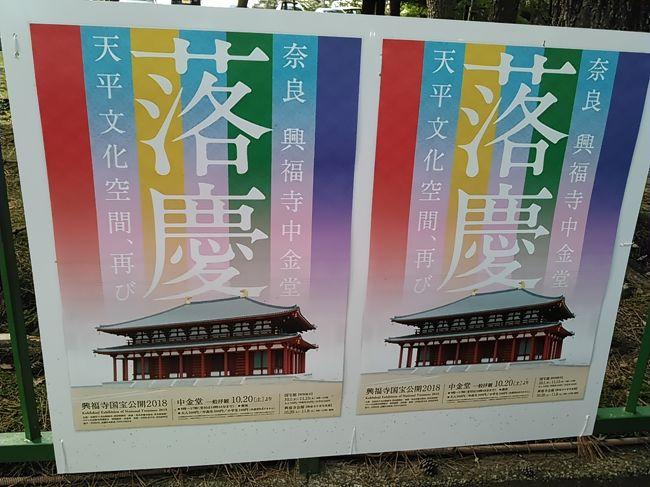 興福寺は和銅3年(710)に創建され、中金堂は火災のたびに元のように再建されてきましたが、7度目の火災の後、再建されていませんでした。約300年たった今年、天平時代のように再建され、本日再建落慶法要が執り行われました。興福寺には国宝の建物や仏像が数多くありますのでどうぞご参詣ください。