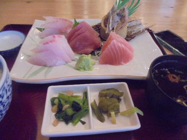 伊東駅で途中下車して、昼食を取りました。<br /> 食事した場所:まるたか<br /> 御土産購入した場所:徳造丸