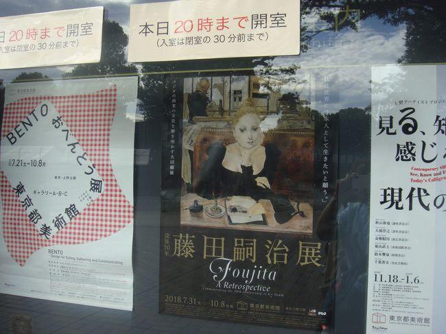 我が家の急なお祝い事で 東京に行くことになりました<br />仙台からは新幹線を利用<br />宿泊はメトロポリタン丸の内 <br />用事を済ませた翌日<br />高尾山登山とレオナール藤田展を観てきました