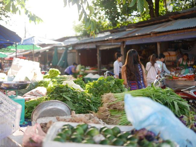 朝寝坊で、結局、ルアンプラバン名物の托鉢は一度も見ることはなかったです。<br /><br />でも毎朝、滞在したゲストハウス近くのマーケットを散歩しました。<br /><br />市場、マーケット。<br /><br />ラオス語では、タラート。<br />タイ語と同じです。<br /><br />