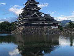 松本で松本城と温泉
