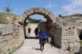 2018.8ギリシアザキントス島,ペロポネソス半島ドライブ旅行20-オリンピア遺跡を巡る