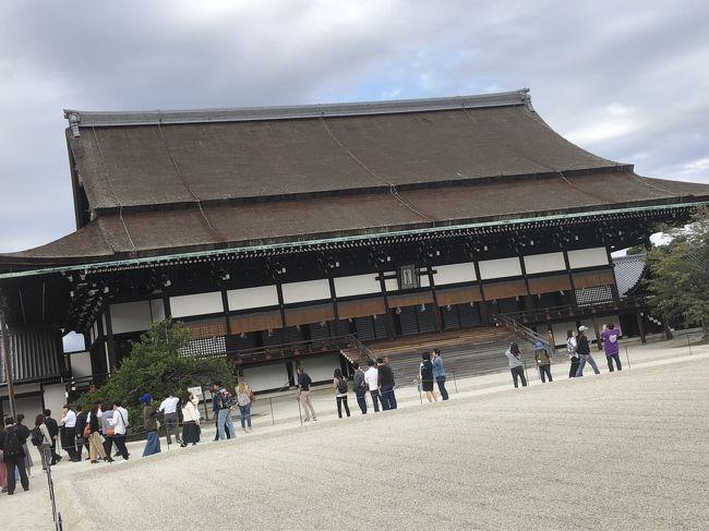 2018年10月に京都に日帰りで行ってきました。午前中から夜までみっちり遊びました。今回は昼編という事で夕方までの様子を伝えます。最近知った通年で公開されているという京都御所の見学と下鴨神社がメインです。