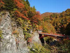 バスツアーで、紅葉めぐり   松川渓谷 ~秋山郷~奥只見湖