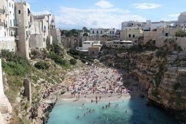 美しき南イタリア旅行♪ Vol.477(第17日)☆美しきポリニャーノ・ア・マーレ旧市街 カーラ・ボルト・ビーチを眺めて♪