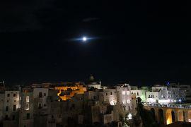 美しき南イタリア旅行♪ Vol.485(第17日)☆スイートルームテラスから旧市街夜景と満月の競演♪