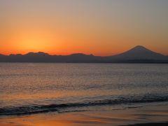 週末散歩 小笠原料理のランチと小原古邨展 江ノ島での夕日