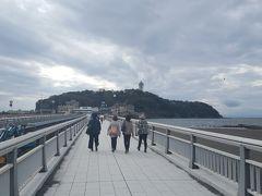 秋雨 江ノ島
