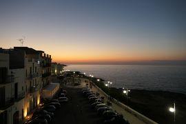 美しき南イタリア旅行♪ Vol.519(第18日)☆スイートルームテラスから夜景のポリニャーノ・ア・マーレ旧市街♪