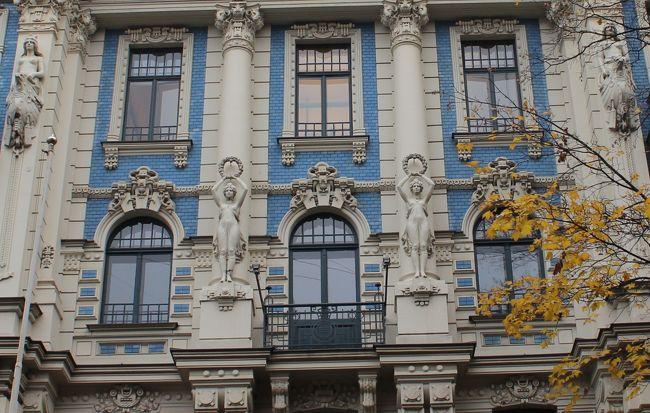 リガのユーゲントシュティール建築群1