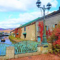 紅葉の小樽運河