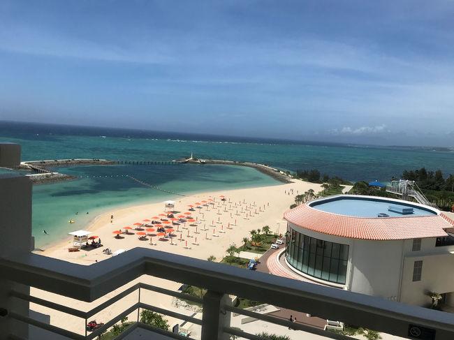 2日目は伊計島観光の後、2泊目のホテル、シェラトン沖縄サンマリーナホテルに向かいました。<br />チェックイン後はホテル内でのんびりと過ごしました。