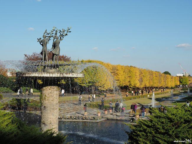 黄葉・紅葉が見頃となった昭和記念公園へ行ってきました。<br /><br />今年の黄葉・紅葉まつりは11月3日~25日まで。<br /><br />見どころは、<br />からたいのイチョウ並木:300m、98本のイチョウ<br />立川口カナールイチョウ並木:200m、106本のイチョウ<br />見頃は11月上旬~下旬。<br />日本庭園のモミジ:約300本<br />見頃は11月上旬~中旬。