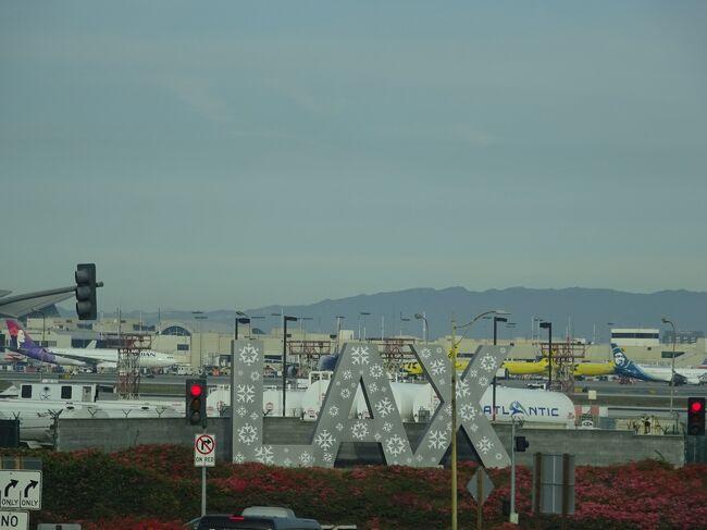 JGC会員として最初の旅行は、2018年1月に有効期限ギリギリのマイルを全てつぎ込んだロサンゼルス往復プレエコチケット利用の旅となりました。シアトルに住んでいる友人ファミリーとロスで合流して7人で楽しく旅行して来ました。40年来の付き合いで、私のことをよく理解している人達のおかげで、とても有意義な8日間でした。現地の生活感も味わえるリーズナブルな旅行をコーディネートしてくれた友人ファミリーに感謝感謝です。旅行記①から⑧を最後まで読んでいただき、ありがとうございました。<br /><br /> <br /> ⑧ 8・9日目  ロサンゼルス空港  成田空港<br /><br />