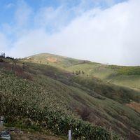 平標山 ガスの中の周回登山