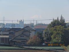 11月17日に見られた富士山