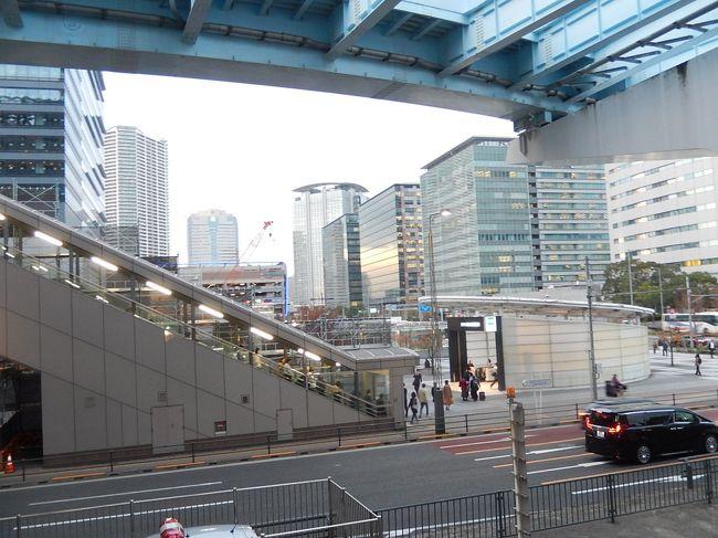 11月16日、午後4時15分頃に国際展示場正門駅からユリカモメに乗って豊洲駅に到着しました。 豊洲駅より地下鉄有楽町線に乗り継ぐ前に豊洲駅付近を歩きました。<br /><br /><br /><br />*写真は豊洲駅付近の風景