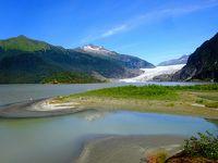 メンデンホール氷河とロバート山(ジュノー2)Last Frontierアラスカ
