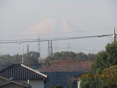 11月21日ふじみ野市より見られた富士山