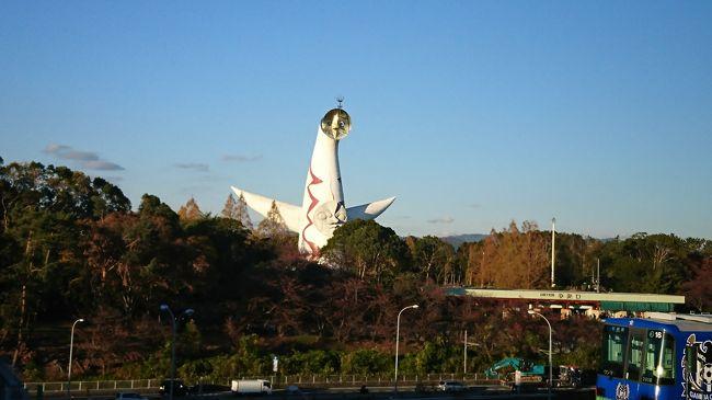 2018年 秋旅行は昨年と同様、大阪へ。<br />時々旅行へ一緒に行くおばさまが大阪在住なのでちょっとお会いしに。<br />出発までノープランでしたが、エキスポシティや大阪城など観光できて満足の内容でした。<br /><br />それにしても今年は暖かい!<br />環境への影響も心配ですが観光するにはとっても快適な陽気でした。<br /><br />株主優待があったので行きはJAL、帰りはANA。<br />ホテルは1泊目はシェラトン都、2泊目はセントレジス大阪。<br /><br />新しい焼き肉のお店にも行けて満足満足な旅行でした。