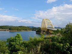 熊本出張,三角ドライブ3-天草五橋,下大戸ノ岬の日本二番の鉄塔,虹が出現,帰京