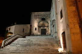 美しき南イタリア旅行♪ Vol.606(第20日)☆イタリア美しき村「ペスココスタンツォ」夜景の美しい大聖堂♪