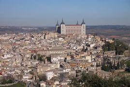 無料航空券で年末マドリード旅行 その7 世界遺産の街トレドへ日帰り②川越しに見たトレドの旧市街は美しい