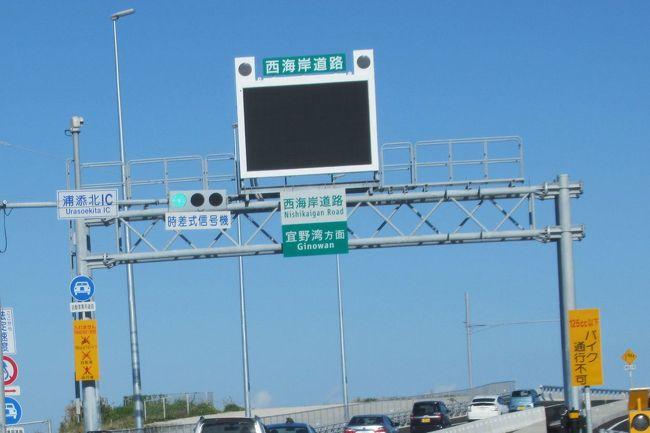 冬でも暖かい沖縄へ(2)那覇空港から西海岸道路を通って読谷村へ・那覇港ではダイヤモンド・プリンセスに遭遇