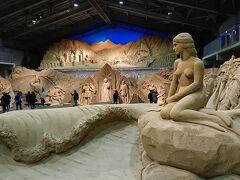砂の美術館で「砂で世界旅行・北欧編」を鑑賞する。
