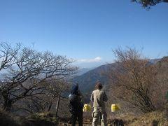 妻と大山登山