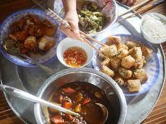 ニンビンでスローライフ、ホームステイ。ベトナム、ローカル朝市の風景と家庭料理。